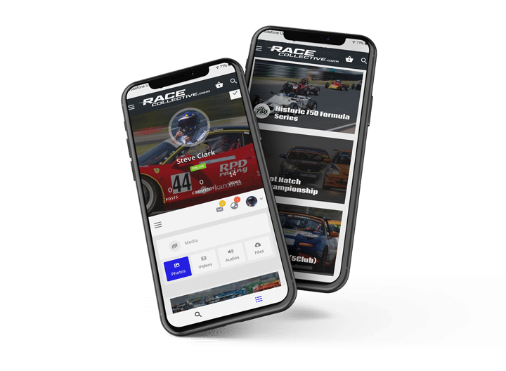 Race Collective website in mobile view