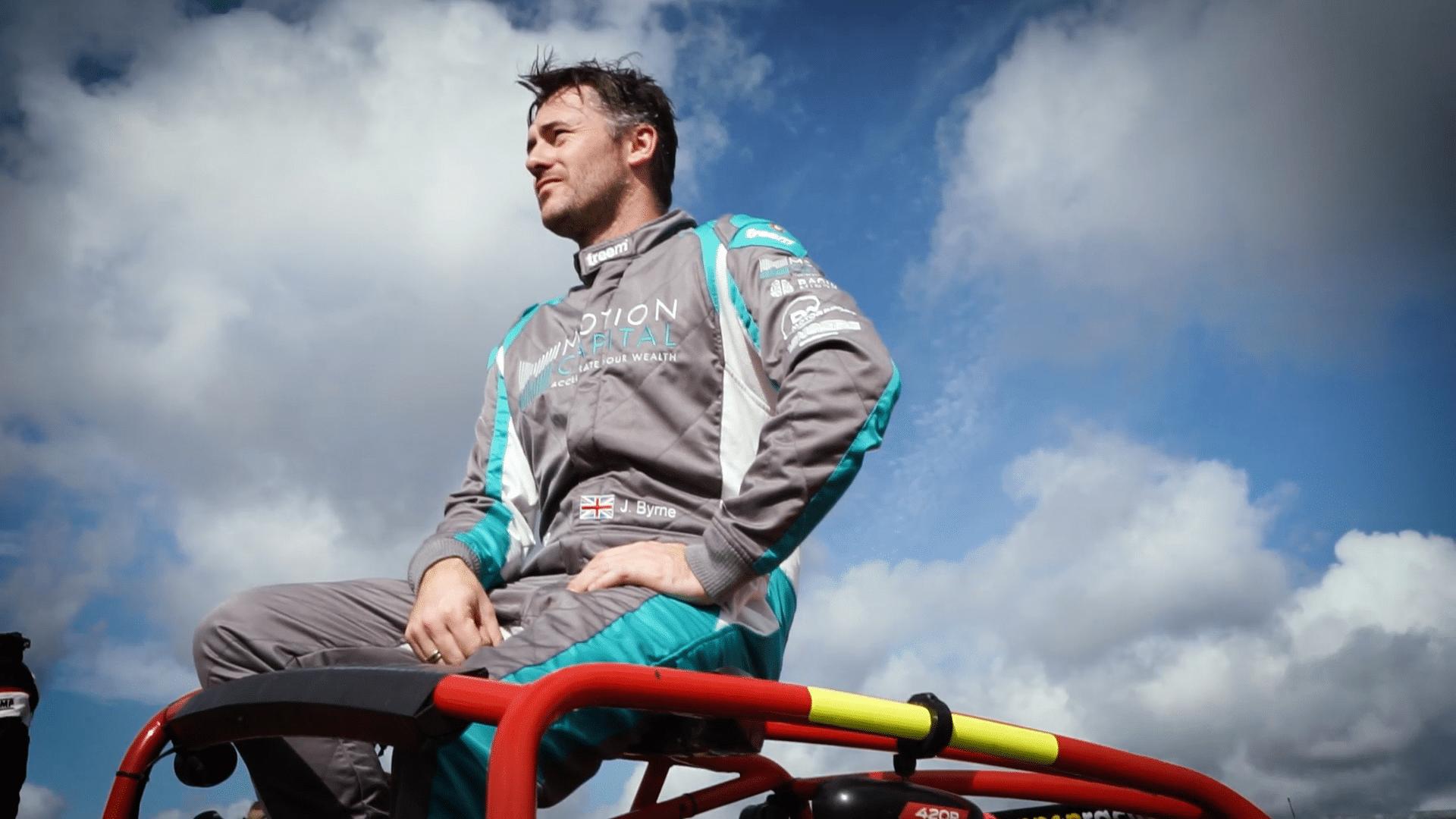 John Bryne racing driver portrait