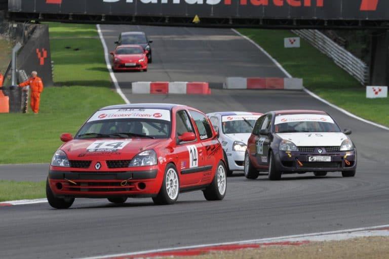 Renault Clios at Brands Hatch